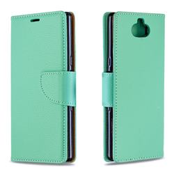 Classic Luxury Litchi Leather Phone Wallet Case for Sony Xperia 10 / Xperia XA3 - Green