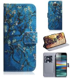 Apricot Tree PU Leather Wallet Case for Sony Xperia 10 / Xperia XA3