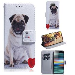 Pug Dog PU Leather Wallet Case for Sony Xperia 10 / Xperia XA3