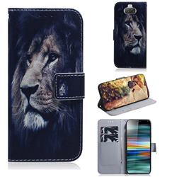 Lion Face PU Leather Wallet Case for Sony Xperia 10 / Xperia XA3