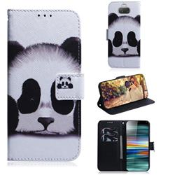 Sleeping Panda PU Leather Wallet Case for Sony Xperia 10 / Xperia XA3