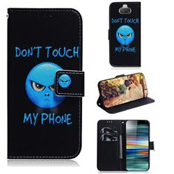 Not Touch My Phone PU Leather Wallet Case for Sony Xperia 10 / Xperia XA3