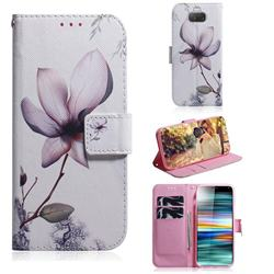 Magnolia Flower PU Leather Wallet Case for Sony Xperia 10 / Xperia XA3