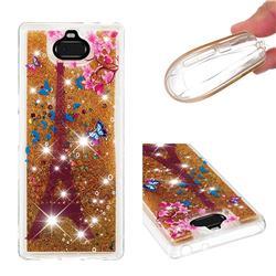 Golden Tower Dynamic Liquid Glitter Quicksand Soft TPU Case for Sony Xperia 10 Plus / Xperia XA3 Ultra