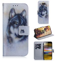 Snow Wolf PU Leather Wallet Case for Sony Xperia 10 Plus / Xperia XA3 Ultra