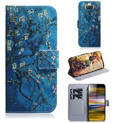 Apricot Tree PU Leather Wallet Case for Sony Xperia 10 Plus / Xperia XA3 Ultra