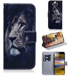 Lion Face PU Leather Wallet Case for Sony Xperia 10 Plus / Xperia XA3 Ultra