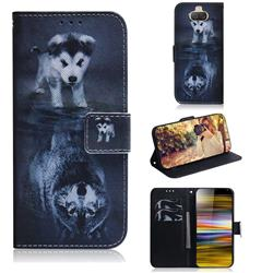 Wolf and Dog PU Leather Wallet Case for Sony Xperia 10 Plus / Xperia XA3 Ultra