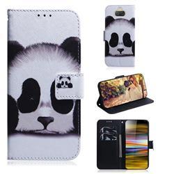 Sleeping Panda PU Leather Wallet Case for Sony Xperia 10 Plus / Xperia XA3 Ultra