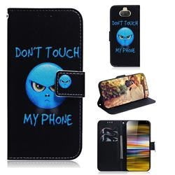 Not Touch My Phone PU Leather Wallet Case for Sony Xperia 10 Plus / Xperia XA3 Ultra
