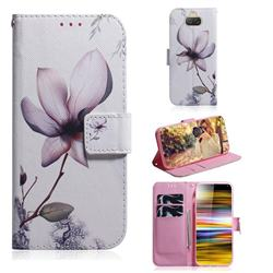 Magnolia Flower PU Leather Wallet Case for Sony Xperia 10 Plus / Xperia XA3 Ultra