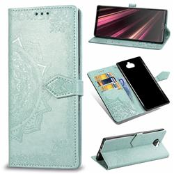 Embossing Imprint Mandala Flower Leather Wallet Case for Sony Xperia 10 Plus / Xperia XA3 Ultra - Green