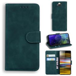 Retro Classic Skin Feel Leather Wallet Phone Case for Sony Xperia 10 Plus / Xperia XA3 Ultra - Green