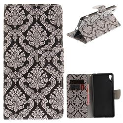 Totem Flowers PU Leather Wallet Case for Sony Xperia XA Ultra
