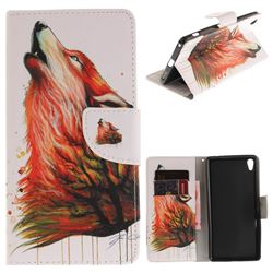 Color Wolf PU Leather Wallet Case for Sony Xperia XA Ultra