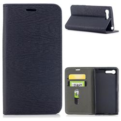 Tree Bark Pattern Automatic suction Leather Wallet Case for Sony Xperia X Compact X Mini - Black