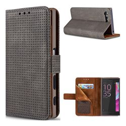 Luxury Vintage Mesh Monternet Leather Wallet Case for Sony Xperia X Compact X Mini - Black