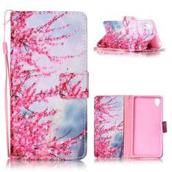 Plum Flower Leather Wallet Phone Case for Sony Xperia X Performance