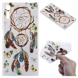 Color Wind Chimes 3D Relief Matte Soft TPU Back Cover for Sony Xperia XZ XZs
