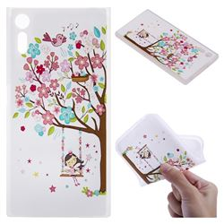 Tree and Girl 3D Relief Matte Soft TPU Back Cover for Sony Xperia XZ XZs