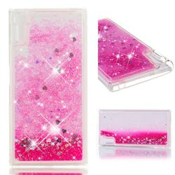 Dynamic Liquid Glitter Quicksand Sequins TPU Phone Case for Sony Xperia XZ XZs - Rose