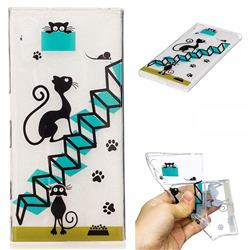 Stair Cat Super Clear Soft TPU Back Cover for Sony Xperia XZ XZs