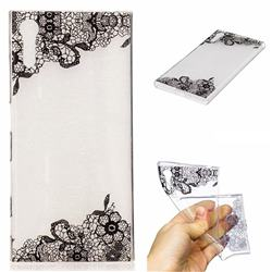 Lace Flower Super Clear Soft TPU Back Cover for Sony Xperia XZ XZs