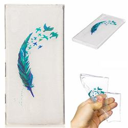 Feather Bird Super Clear Soft TPU Back Cover for Sony Xperia XZ XZs