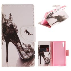 High Heels PU Leather Wallet Case for Sony Xperia XZ