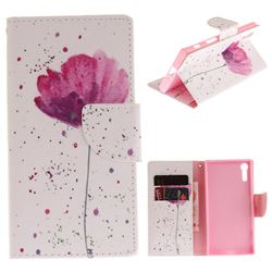 Purple Orchid PU Leather Wallet Case for Sony Xperia XZ