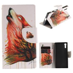 Color Wolf PU Leather Wallet Case for Sony Xperia XZ