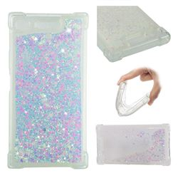 Dynamic Liquid Glitter Sand Quicksand Star TPU Case for Sony Xperia XZ1 - Pink