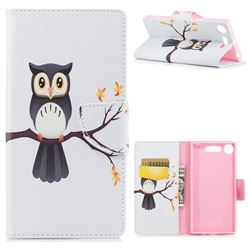 Owl on Tree Leather Wallet Case for Sony Xperia XZ1