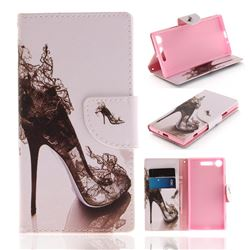 High Heels PU Leather Wallet Case for Sony Xperia XZ1