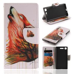 Color Wolf PU Leather Wallet Case for Sony Xperia XZ1