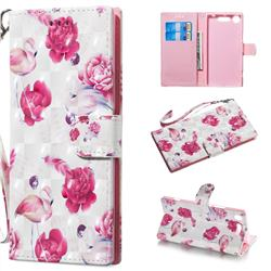 Flamingo 3D Painted Leather Wallet Phone Case for Sony Xperia XZ1