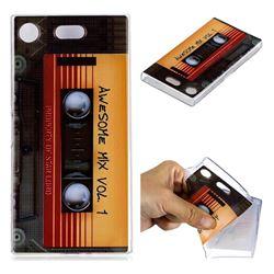 Retro Cassette Tape Super Clear Soft TPU Back Cover for Sony Xperia XZ1 Compact