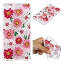 Chrysant Flower Super Clear Soft TPU Back Cover for Sony Xperia XZ1 Compact