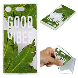 Good Vibes Banana Leaf Super Clear Soft TPU Back Cover for Sony Xperia XZ1 Compact