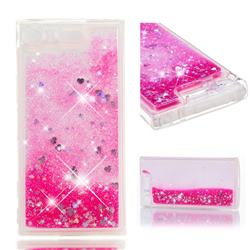 Dynamic Liquid Glitter Quicksand Sequins TPU Phone Case for Sony Xperia XZ1 Compact - Rose