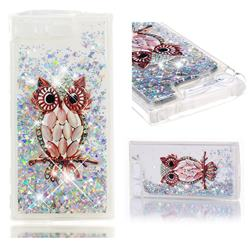 Seashell Owl Dynamic Liquid Glitter Quicksand Soft TPU Case for Sony Xperia XZ1 Compact