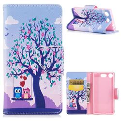 Tree and Owls Leather Wallet Case for Sony Xperia XZ1 Compact