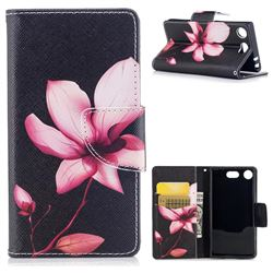 Lotus Flower Leather Wallet Case for Sony Xperia XZ1 Compact