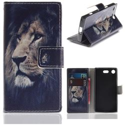Lion Face PU Leather Wallet Case for Sony Xperia XZ1 Compact