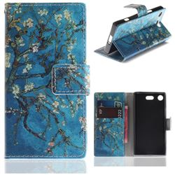 Apricot Tree PU Leather Wallet Case for Sony Xperia XZ1 Compact