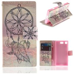Dream Catcher PU Leather Wallet Case for Sony Xperia XZ1 Compact