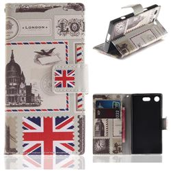 London Envelope PU Leather Wallet Case for Sony Xperia XZ1 Compact