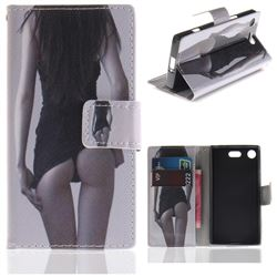 Sexy Girls PU Leather Wallet Case for Sony Xperia XZ1 Compact
