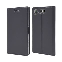 Ultra Slim Card Magnetic Automatic Suction Leather Wallet Case for Sony Xperia XZ1 Compact - Star Grey