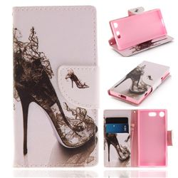 High Heels PU Leather Wallet Case for Sony Xperia XZ1 Compact